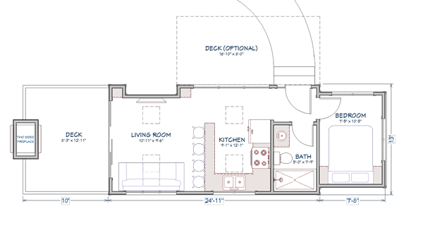 Cedar Breaks tiny home model floor plan