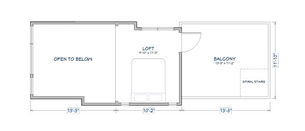Denali loft tiny house floor plans