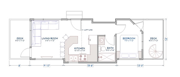 Denali tiny home floor plans