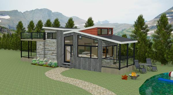 Denali tiny home 3D render