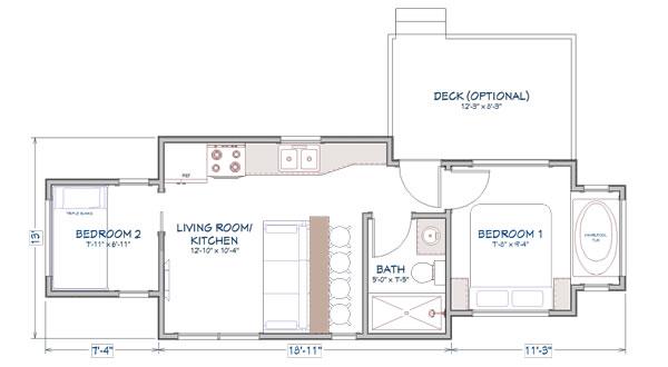 Ft. Sumter tiny home floor plan