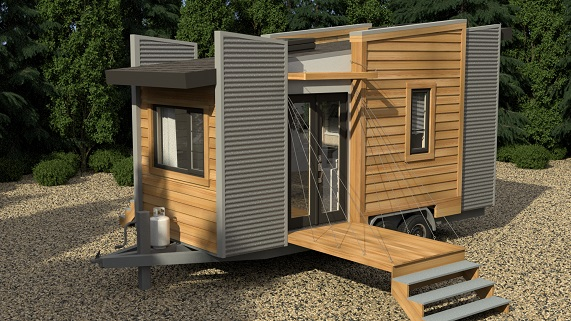 Exterior Dragonfly Tiny Home Model