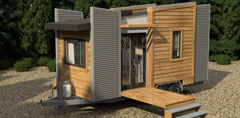 exterior of Dragonfly tiny house model