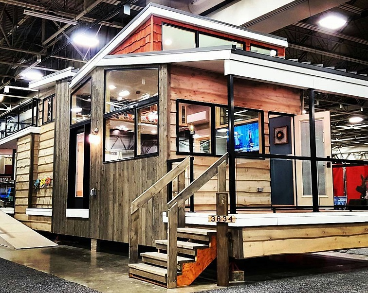 luxury tiny home and house