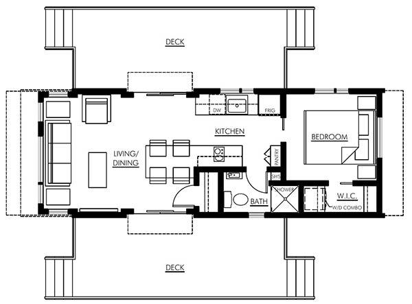 Magnolia park model home floor plan