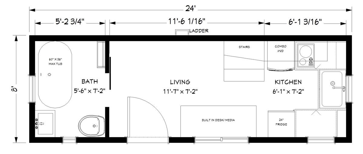 Schooner Unique Tiny House Model for Sale | Utopian Villas